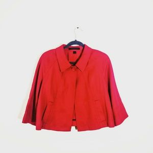 3/$25 EXPRESS Cropped Professional Jacket Red